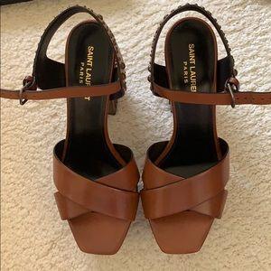 YSL Saint Laurent Farrah Studded Sandals